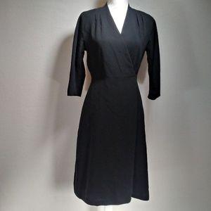 Talbot's Black Petite Dress Wrap-Style - Size 6